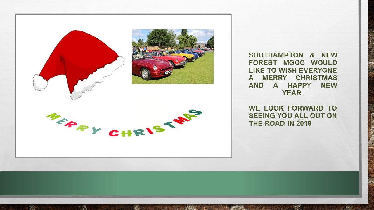 Southampton & New Forest MGOC xmas front page 2017